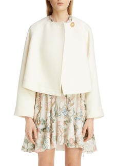 Chloé Wool Blend Short Swing Coat