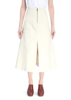 Chloé Workwear A-Line Midi Skirt