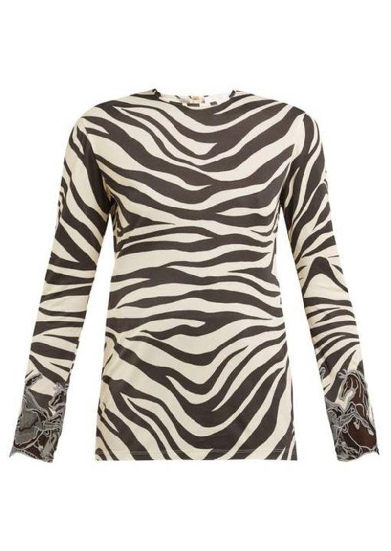 Chloé Zebra-print long-sleeved top