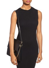 Chloé 'Medium Faye' Diamond Embossed Leather Shoulder Bag