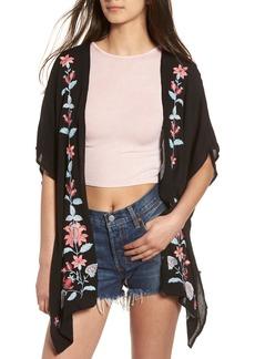 Chloe & Katie Floral Embroidered Kimono