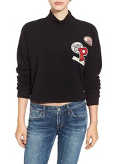 Chloé Chloe & Katie Patch Mock Neck Sweatshirt