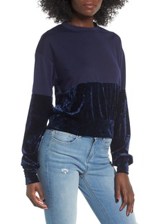 Chloé Chloe & Katie Velvet Remix Sweatshirt