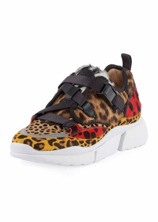 Chloé Chloe Animal Print Platform Sneaker