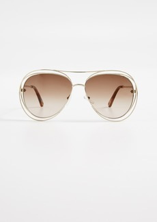 Chloé Chloe Aviator Sunglasses