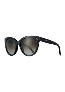Chloé Chloe Boxwood Modified Cat-Eye Sunglasses
