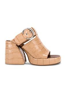 Chloé Chloe Buckle Platform Sandals
