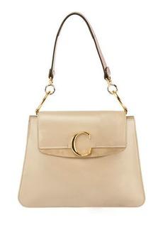 Chloé Chloe C Medium Shiny Leather Shoulder Bag
