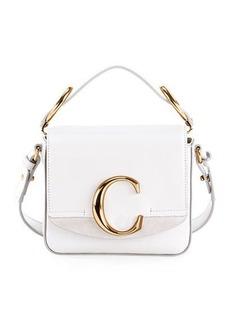 Chloé Chloe C Mini Shiny Leather Shoulder Bag