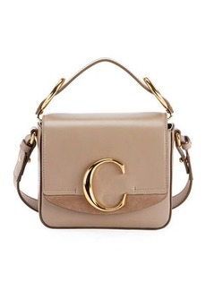 Chloé Chloe C Mini Shiny Leather Shoulder Bag