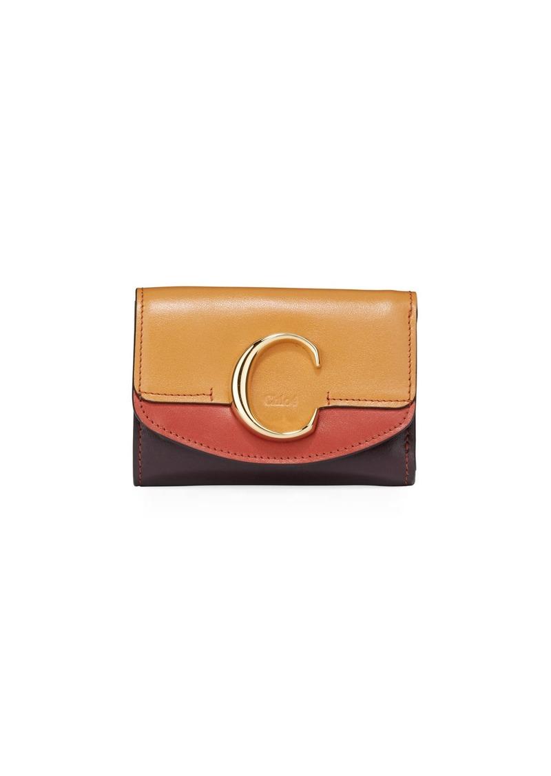 Chloé Chloe C Mini Tri-Fold Leather Crossbody Bag