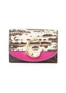Chloé Chloe C Mini Tri-Fold Wallet