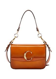 Chloé Chloe C Small Glossy Calf Shoulder Bag
