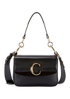Chloé Chloe C Small Shiny Calf Leather Shoulder Bag