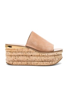 Chloe Camille Suede Wedge Sandals