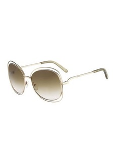 Chloé Chloe Carlina Butterfly-Frame Sunglasses