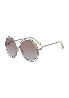 Carlina Round Concentric Metal Sunglasses