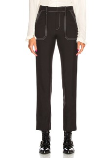 Chloe Contrast Stitching Trousers
