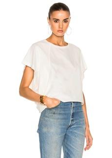 Chloé Chloe Cotton Rib Jersey Seamed T-Shirt