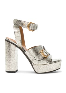 Chloe Cracked Leather Kingsley Sandals