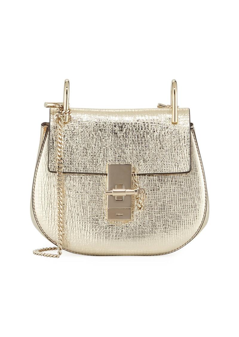 9d6bdbfb3d0 Chloé Drew Mini Metallic Leather Crossbody Bag