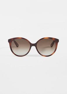Chloé Chloe Elize Acetate Round Sunglasses