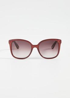 Chloé Chloe Elize Acetate Square Sunglasses