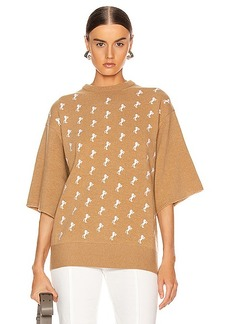 Chloé Chloe Embroidered Horse Sweater