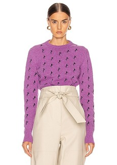 Chloé Chloe Embroidered Horse Tie Sweater