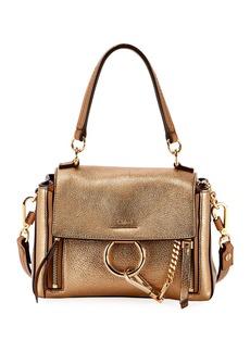 Chloé Chloe Faye Day Mini Metallic Satchel Bag