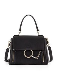 Chloé Chloe Faye Day Small Pebbled Ring Shoulder Bag