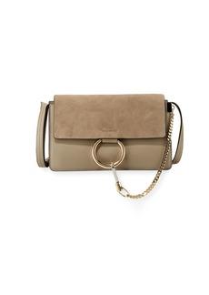 Chloé Chloe Faye Small Suede Shoulder Bag  Gray