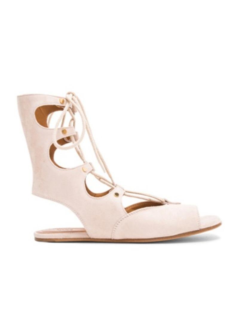 Chloé Chloe Flat Suede Gladiator Sandals