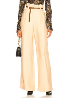 Chloé Chloe Fluid Viscose Wide Leg Trousers