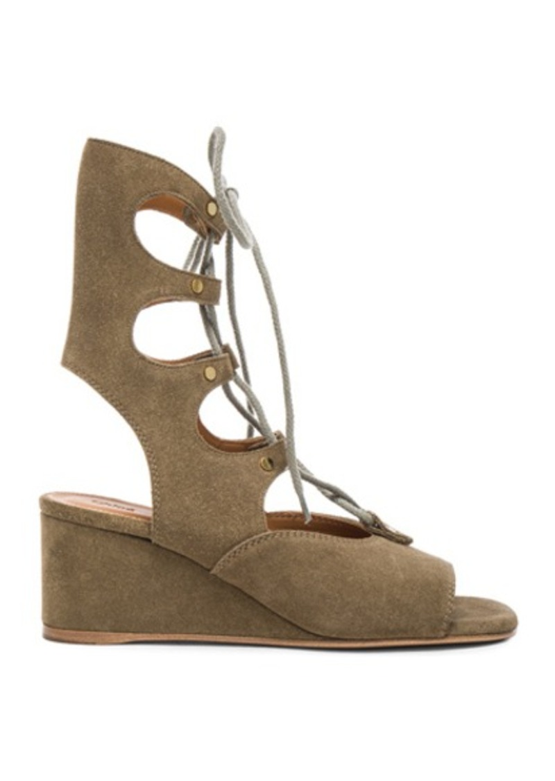 Chloé Chloe Foster Suede Wedge Sandals