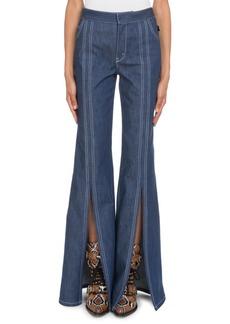 Chloé Chloe High-Waist Slit Flare-Leg Jeans