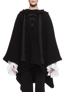 Chloé Chloe Hooded Lace-Up Cape