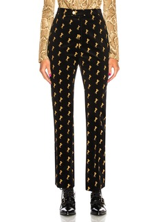 Chloe Horse Embroidered Trousers