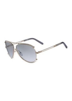 Chloé Chloe Isidora Metal Aviator Sunglasses