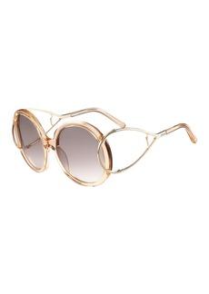 Chloé Chloe Jackson Round Oversized Sunglasses