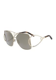 Jackson Square Oversized Mirrored Sunglasses