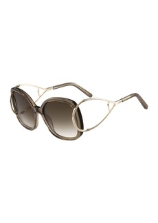 Chloé Chloe Jackson Square Oversized Sunglasses