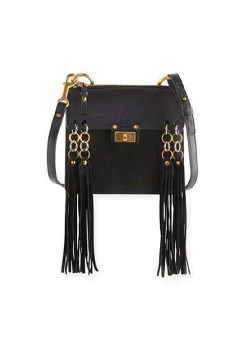 Chloé Chloe Jane Tassel-Trim Leather Crossbody Bag