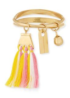 Chloé Chloe Janis Fringe Bangle Charm Bracelet