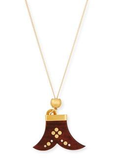 Chloé Chloe Janis Wooden Pendant Necklace
