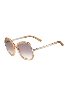 Chloé Chloe Jayme Gradient Rounded Square Sunglasses
