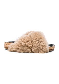 Chloe Kerenn Shearling Fur Sandals