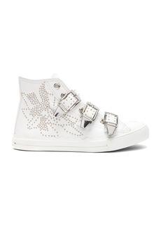 Chloe Kyle Semi-Shiny Calf Leather Buckle Sneakers