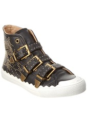Chloé Chloe Kyle Studded High-Top Leather Sneaker