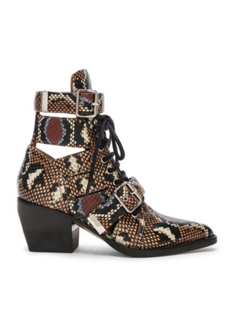 Chloé Chloe Lace Up Booties